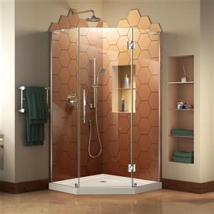 """DreamLine Prism Plus Shower Enclosure Kit - 40"""" - Chrome"""