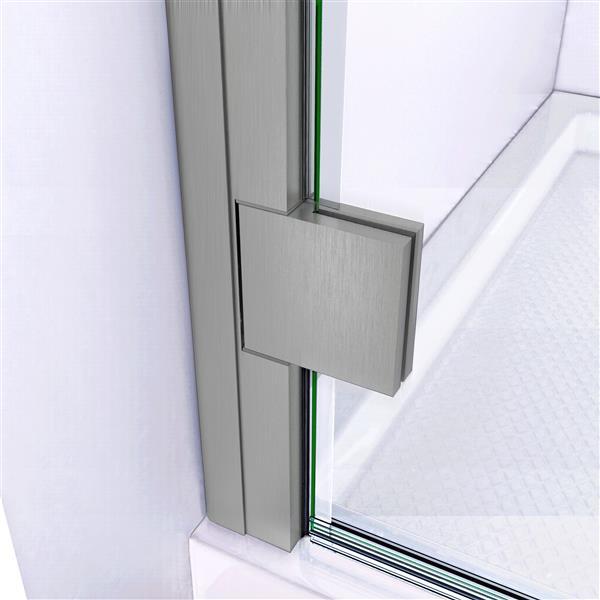 """DreamLine Lumen Shower Door and Base - 32"""" x 42"""" - Nickel"""