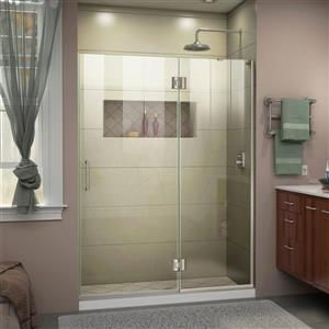 "DreamLine Frameless Hinged Tub/Shower Door - 53"" - Nickel"