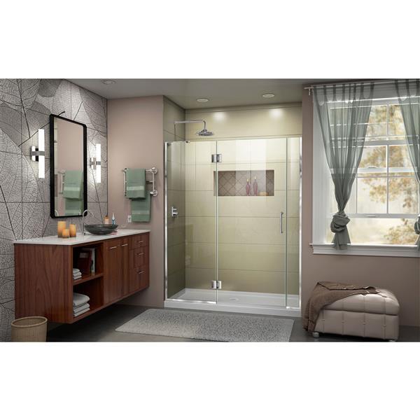 """Dreamline Frameless Hinged Tub/Shower Door - 59.5"""" - Chrome"""
