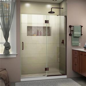 """Porte de baignoire/douche sans cadre DreamLine, 52"""", bronze"""
