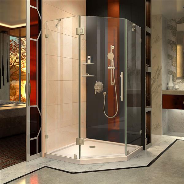 "DreamLine Prism Lux Shower Enclosure Kit - 36"" - Nickel"