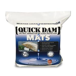 Quick Dam Mats - 6.75-in x 16.5-in - 10/Pack