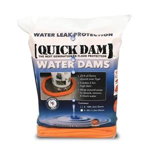 Quick Dam Water Dams - 2.5-in x 10-ft - 2/Pack