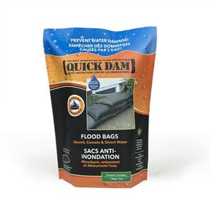 Quick Dam Flood Bags -12-in x 24-in - 2/Pack
