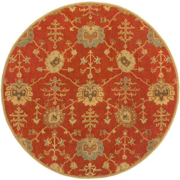 Surya Caesar Traditional Area Rug - 9-ft 9-in - Round - Rust