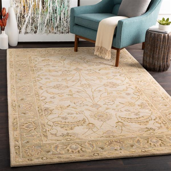Surya Caesar Traditional Area Rug - 9-ft 9-in - Square - Sage