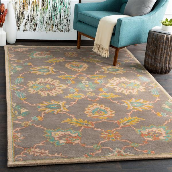 Surya Caesar Traditional Area Rug - 6-ft - Round - Orange