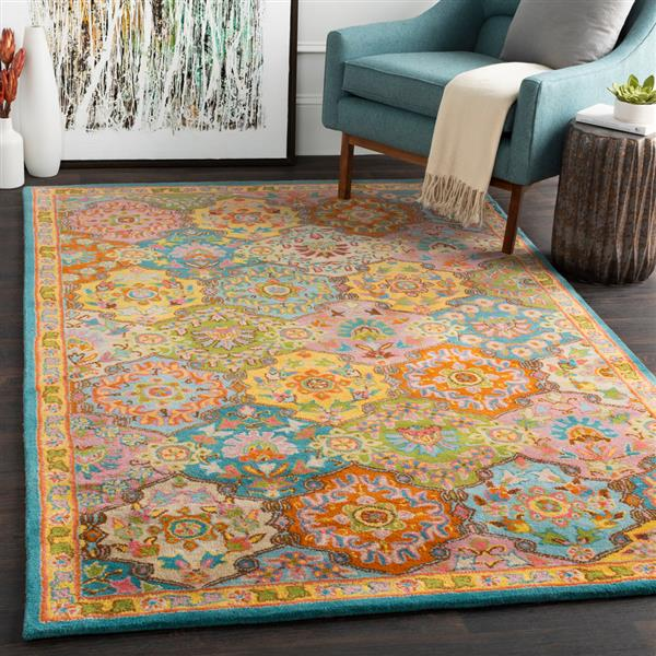 Surya Caesar Traditional Area Rug - 9-ft 9-in - Square - Yellow