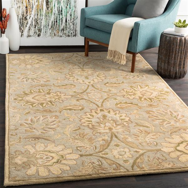 Surya Caesar Traditional Area Rug - 4-ft - Square - Green
