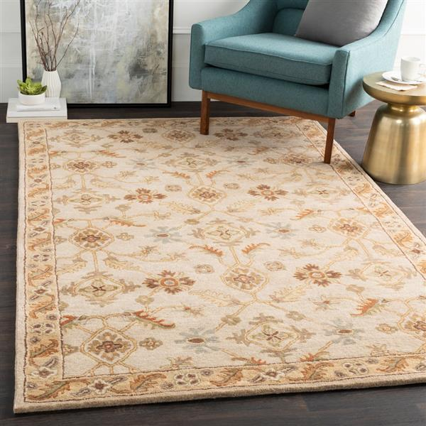 Surya Caesar Traditional Area Rug - 8-ft - Round - Khaki