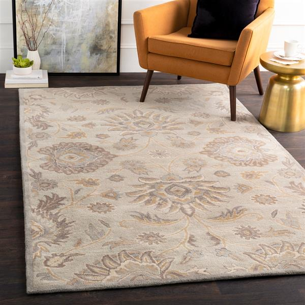 Surya Caesar Traditional Area Rug - 9-ft 9-in - Round - Light Grey
