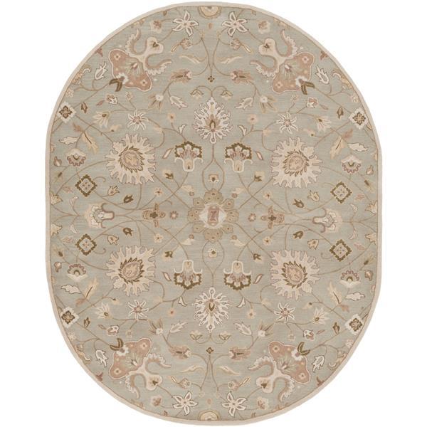 Surya Caesar Traditional Area Rug - 8-ft x 10-ft - Oval - Grey