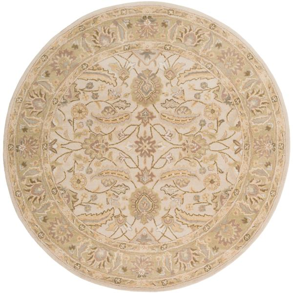 Surya Caesar Traditional Area Rug - 8-ft - Round - Sage