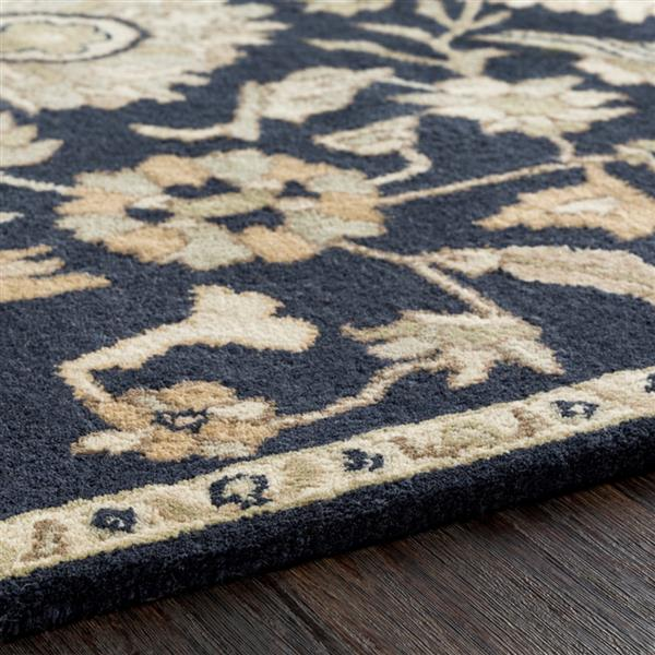 Surya Caesar Traditional Area Rug - 8-ft x 10-ft - Oval - Black