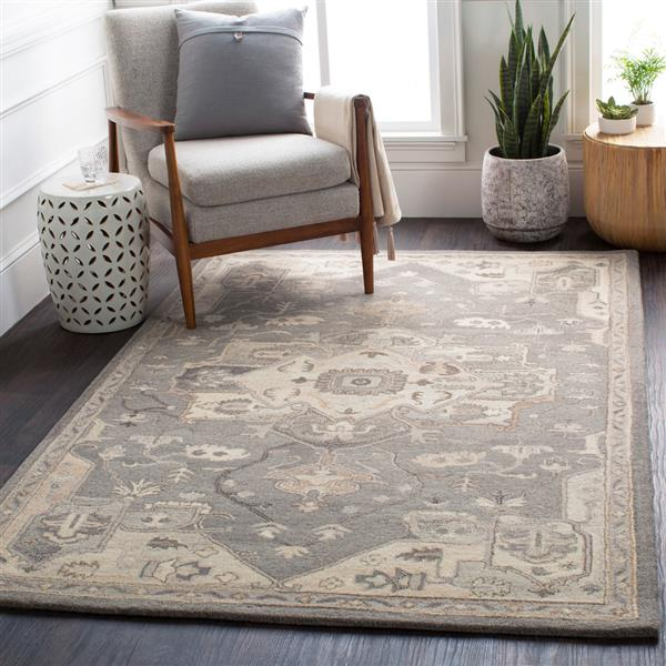Surya Caesar Traditional Area Rug - 8-ft - Round - Charcoal