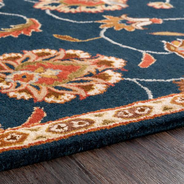 Surya Caesar Traditional Area Rug - 9-ft 9-in - Round - Navy