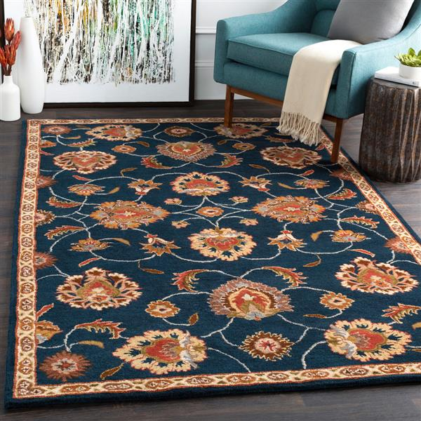 Surya Caesar Traditional Area Rug - 4-ft - Square - Navy