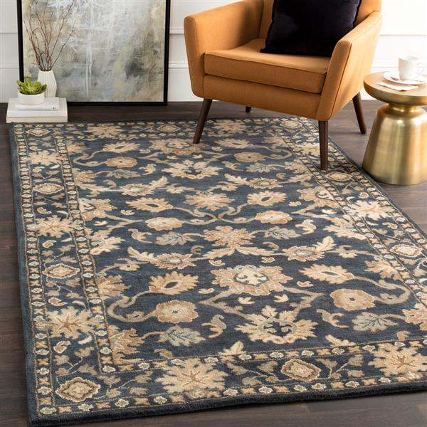 Surya Caesar Traditional Area Rug - 8-ft - Square - Dark Green