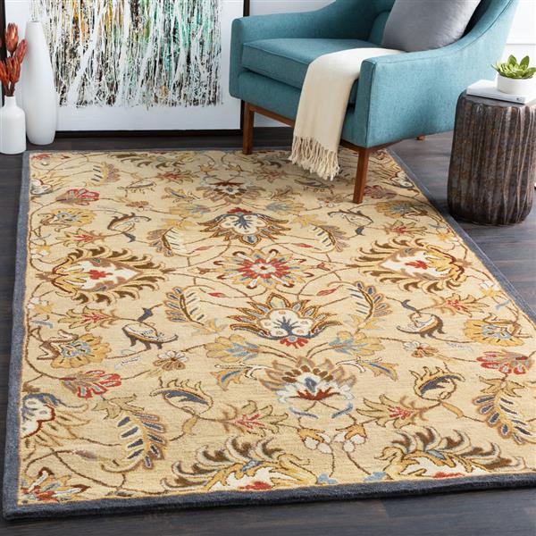 Surya Caesar Traditional Area Rug - 9-ft 9-in - Square - Tan