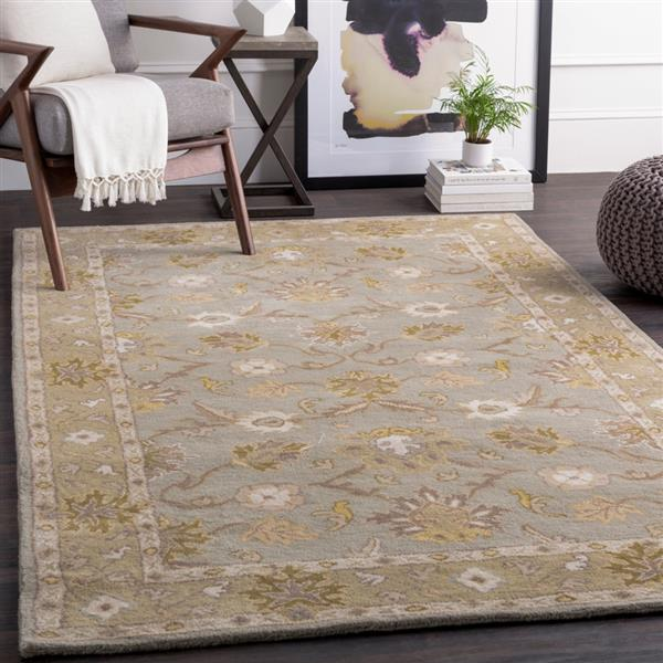 Surya Caesar Traditional Area Rug - 4-ft - Round - Olive