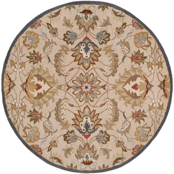 Surya Caesar Traditional Area Rug - 9-ft 9-in - Round - Tan