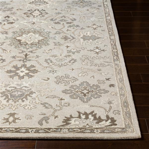 Surya Caesar Traditional Area Rug - 6-ft x 9-ft - Oval - Taupe