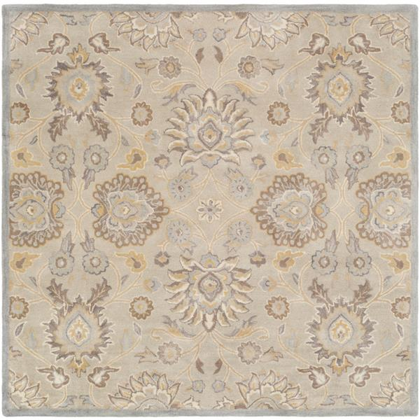 Surya Caesar Traditional Area Rug - 9-ft 9-in - Square - Light Grey