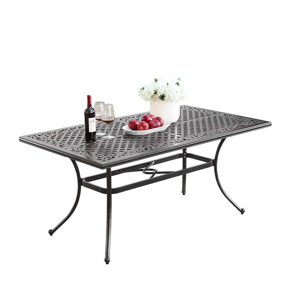 Oakland Living Traditional Patio Table - 64-in - Aluminum
