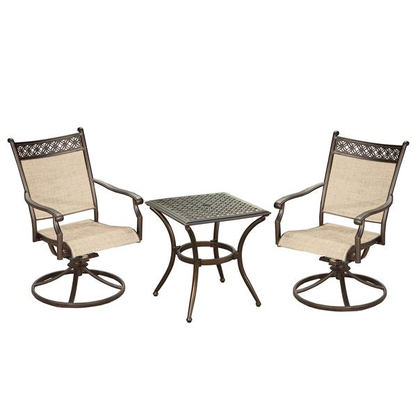 Oakland Living Bali Patio Conversation, Outdoor Furniture Swivel Rocker Chair