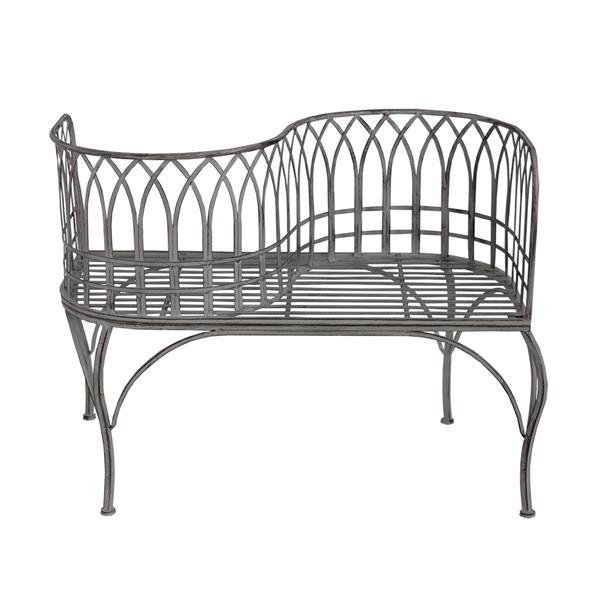 Oakland Living Outdoor Bench - 40-in x 32-in - Antique Grey