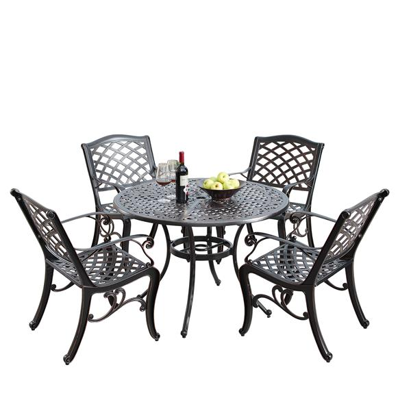 Oakland Living Traditional Outdoor, Round Patio Table Set