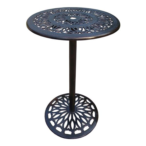 Oakland Living Grace Round Patio Table - 27-in x 27-in x 44-in - Antique Bronze