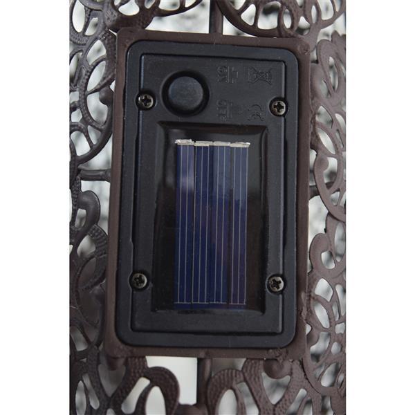 Oakland Living Peacock Solar Light - 22-in - Bronze Steel - Set of 4