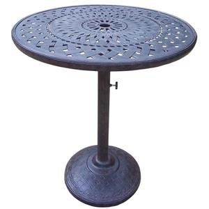 Oakland Living Belmont Patio Table -  36-in - Aluminum Top and Iron Base