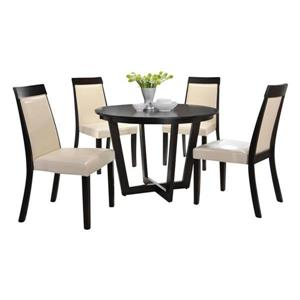 Oakland Living Dining Set - Round Table - Brown - Set of 5