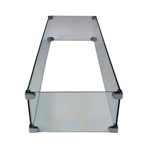 Oakland Living Rectangular Wind Guard - 34-in x 10.5-in x 6-in - Tempered Glass