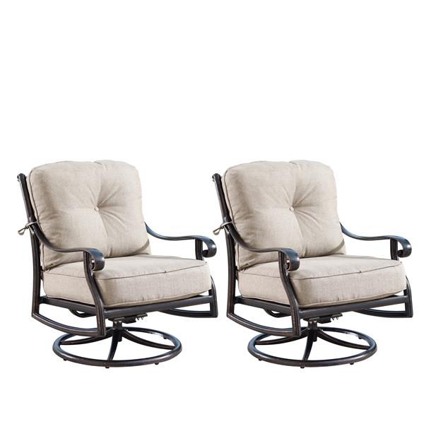 Oakland Living Rocking Patio Chair 34, Patio Furniture Swivel Rocker Chairs
