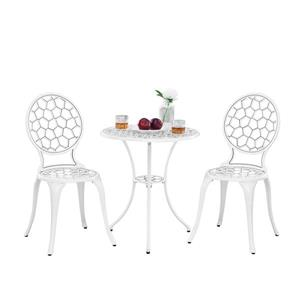 Oakland Living Tmodern Contemporary Bistro Set - White Aluminum - Set of 3