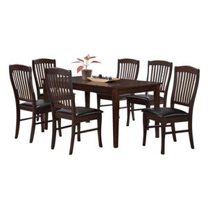 Oakland Living Tansitional Dining Set - Brown - Set of 7