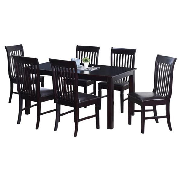 Oakland Living Tansitional Dining Set - Black - Set of 7