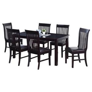 Oakland Living Tansitional Dining Set - Black - Set of 7