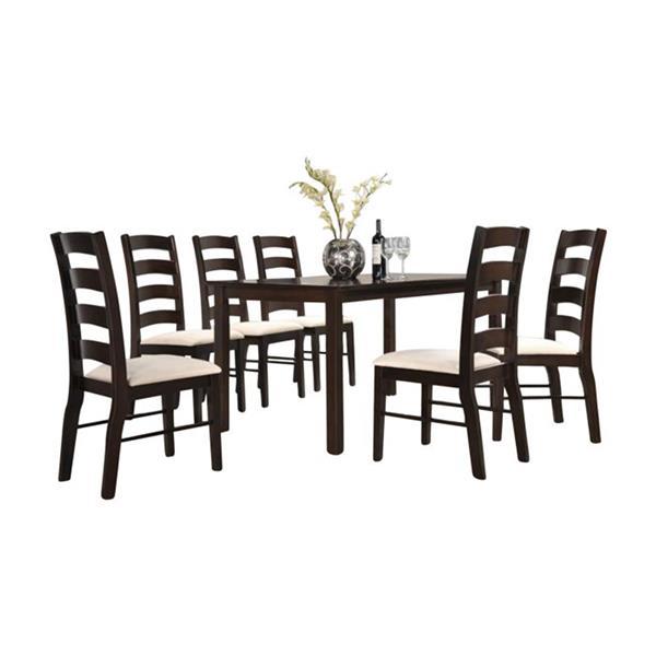 Oakland Living Dining Set - Brown and Beige - Set of 5