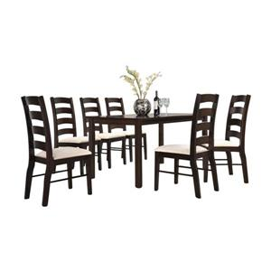 Oakland Living Dining Set - Brown and Beige - Set of 5