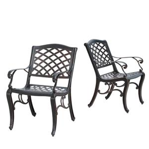 Oakland Living Patio Chair - 35-in x 24-in - Antique Copper - Set of 2