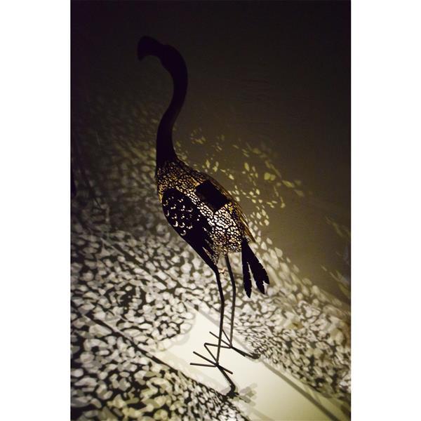 Oakland Living Flamingo Solar Light - 40-in - Bronze Steel - Set of 4