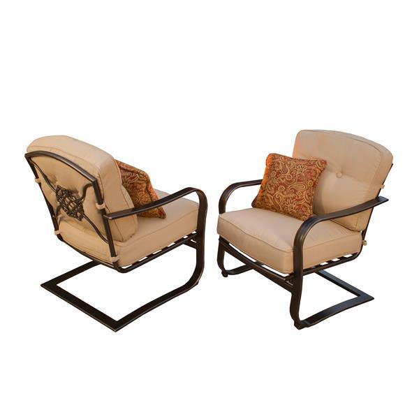 Oakland Living Heritage Patio Chair - Beige - Set of 2