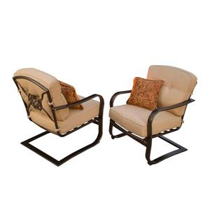 Oakland Living Heritage Patio Chair - Beige - Set of 2