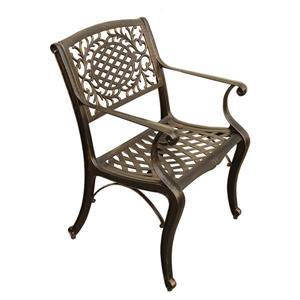 Oakland Living Outdoor Patio Chair - 35-in x 22-in - Aluminum Bronze