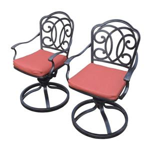 Oakland Living Berkley Swivel Patio Chair - Aluminum - Set of 2